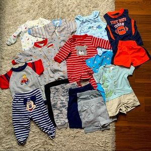 Baby/infant clothing and pyjama lot -16 pieces
